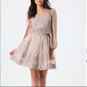 Bebe 2-pc set eyelet top w/ eyelet circle skirt 🌸